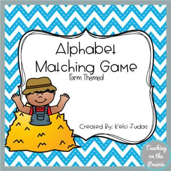 Farm Themed ABC Card Matching Game