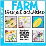 Farm Themed Activities - Preschool/Pre-K/Kindergarten