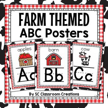 Farm Themed Alphabet Posters