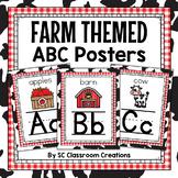 Farm Themed Alphabet Posters- Classroom Decor