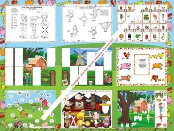 Farm-Themed Articulation: AR, F, G, L, S, SH, T, TH, S & L Blends