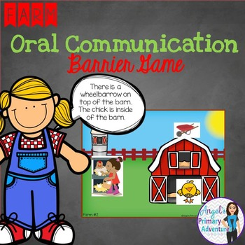 Farm Themed Barrier Game for Oral Communication