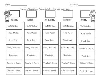Farm Themed Behavior Clip Chart