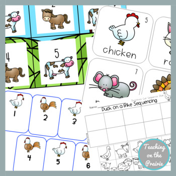 Writing and Math Farm Themed Bundle