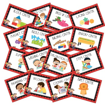 Farm Themed Center Signs for Preschool and Kindergarten