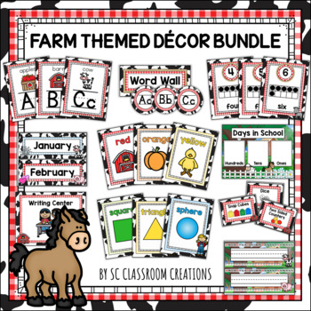 Farm Themed Classroom Decor Set (Mega Bundle)