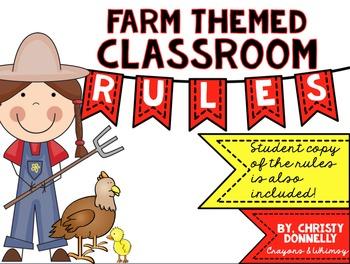 Classroom Rules for a Farm Themed Classroom