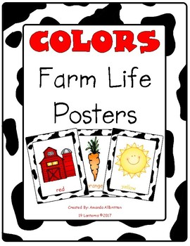 Farm Themed Color Posters