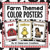 Farm Themed Color Posters- Classroom Decor