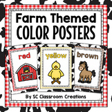 Farm Themed Color Posters- Classroom Decor