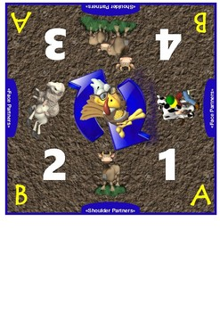 Farm Themed Cooperative Learning Mat Set
