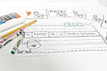 Farm Themed Cut-Apart Sentences