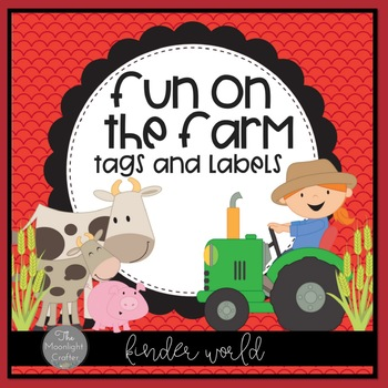 Farm Themed Decor: Lots of Labels Set