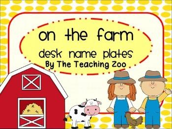 Farm Themed Desk Name Plates