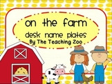 Farm Themed Desk Name Plates