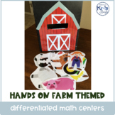 Farm Themed Differentiated Math Centers