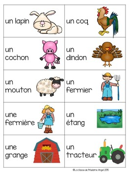 Farm Themed Game in French - La tapette à mouches (la ferme)