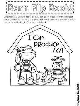 Farm Themed Interactive Articulation Notebook