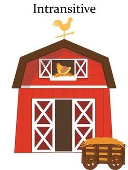 Farm Themed Intransitive vs. Transitive Sorting Center Activity