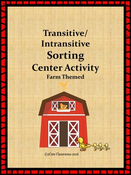 Farm Themed Intransitive vs. Transitive Sorting Center Activity