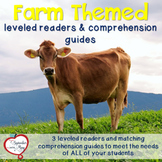 Farm Themed Leveled Readers and Comprehension Guides