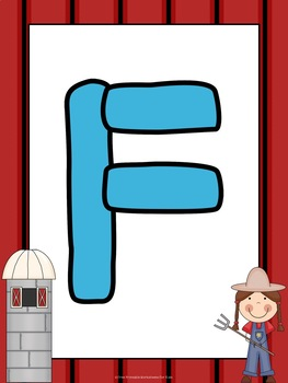 Farm Themed Literacy and Math Centers