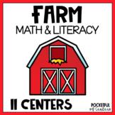 Farm Math & Literacy Centers for Pre-K and Kindergarten {BUNDLE}