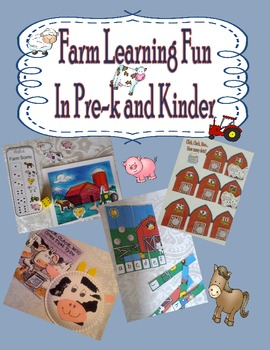 Farm Themed Math and Literacy Games, Centers, Crafts, and