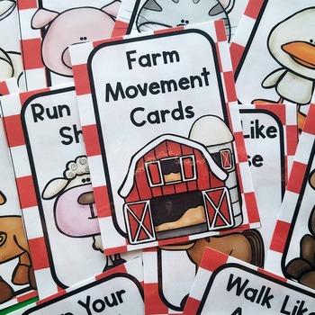 Farm Themed Movement Cards