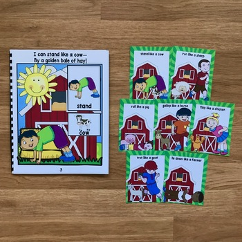 Farm Themed Movement Cards (And Book!)