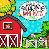 Farm Themed Name Plates  **editable**  FREEBIE!!