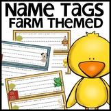Farm Themed Name Tags