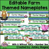 Farm Themed Nameplate/Deskplate/Nametags