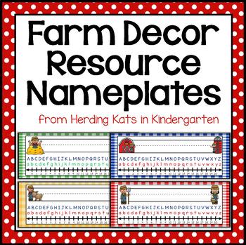 Farm Themed Nameplates