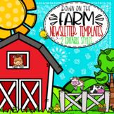 Farm Themed Newsletter Templates  *editable*