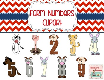 Farm Themed Number Clipart 0 - 9