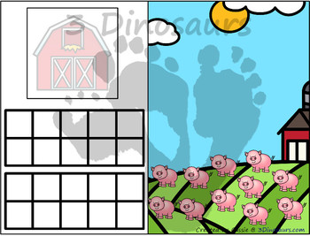 Farm Themed Number Counting Mats