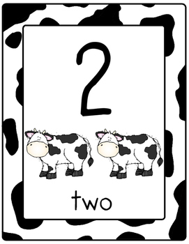 Farm Themed Number Posters 0-20