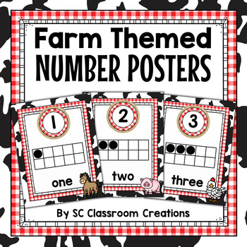 Farm Themed Number Posters