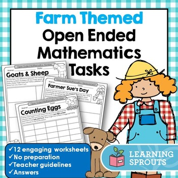 Farm Themed Open Ended Mathematics Tasks