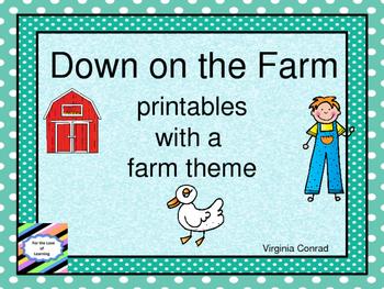 Farm Themed Printables