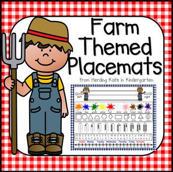 Farm Themed Resource Placemats
