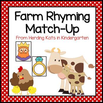 Farm Themed Rhyming Match-Up