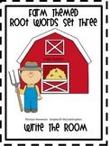 Farm Themed Root Words Write the Room Set Three