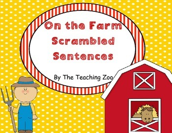 Farm Themed Scrambled Sentences