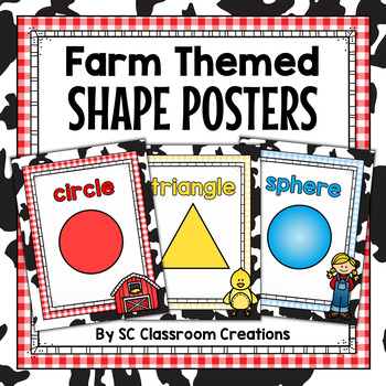 Farm Themed Shape Posters (2D and 3D)