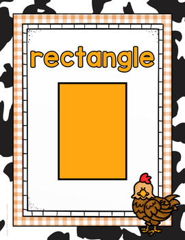 Farm Themed Shape Posters (2D and 3D)- Classroom Decor