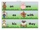 Farm Themed Sight Word Cards
