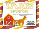 Farm Themed Simple, Complex and Compound Sentences Center