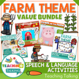 Farm Speech Therapy Activities Value Bundle